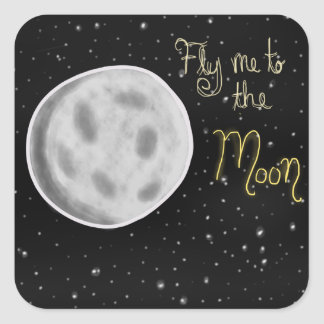 Fly me to the Moon Stickers