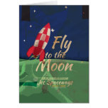Fly me to the Moon Vintage Travel poster