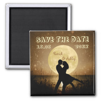 Fly Me to the Moon Wedding Save the Date 2 Inch Square Magnet
