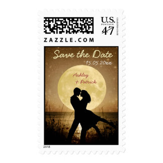 Fly Me to the Moon Wedding Save the Date Postage