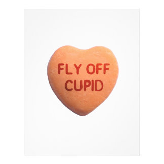 Fly Off Cupid Orange Candy Heart Full Color Flyer