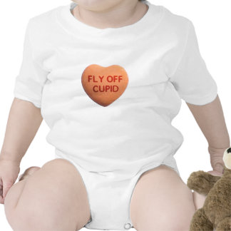 Fly Off Cupid Orange Candy Heart T Shirt