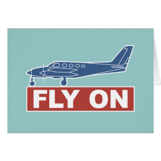 Fly On - Airplane Card