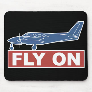 Fly On - Airplane Mouse Pad