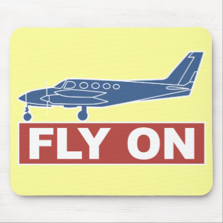 Fly On - Airplane Mousepads
