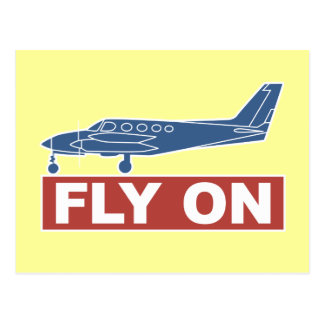 Fly On - Airplane Postcard