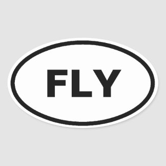 Fly oval car stickers