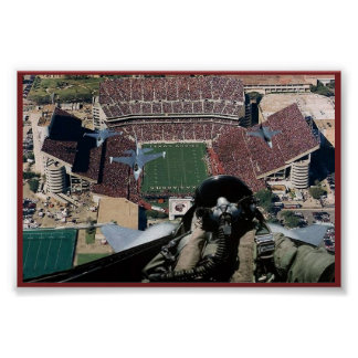 Fly over at Kyle Field Poster