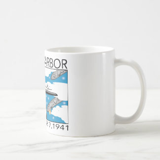 Fly Over Pearl Harbor Classic White Coffee Mug