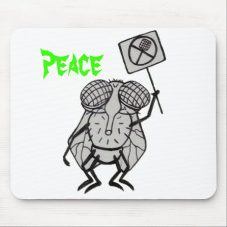 fly, Peace Mouse Pad
