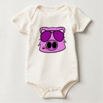 Fly Pig Baby Bodysuit