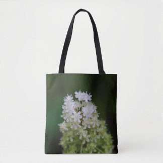 Fly Poison White Wildflower Floral Tote Bag