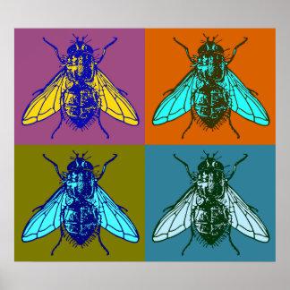 Fly Pop Art Poster