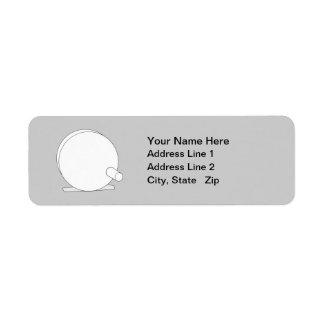 Fly Reel Simple design Return Address Label