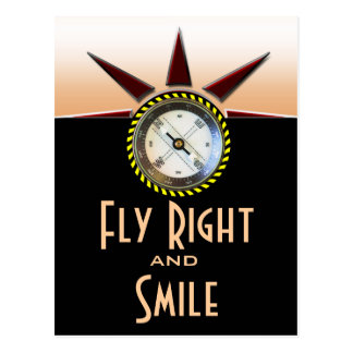 Fly Right and Smile Postcard