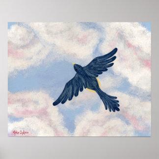 FLY, ROBIN, FLY (bird design) ~ Poster