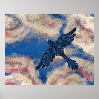 FLY, ROBIN, FLY Version 4 (bird design) ~ Poster