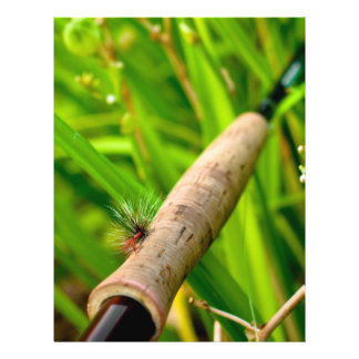 Fly Rod with Fly on Handle Personalized Flyer
