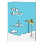 """Fly Safe"" Greeting Card"