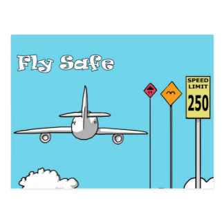 """Fly Safe"" Postcard"