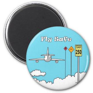 """""""Fly Safe"""" Refrigerator Magnets"""