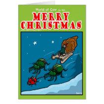 Fly Santa Card