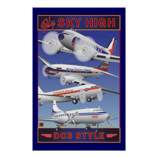 Fly Sky High-Poster Poster