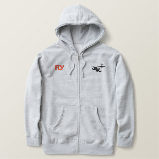 Fly Skydiver Embroidered Hoodie