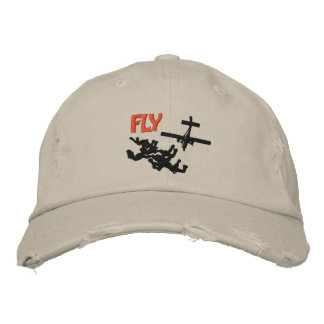 Fly Skydiving Embroidered Baseball Hat