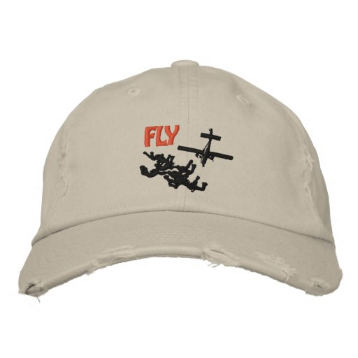 Fly Skydiving Embroidered Baseball Caps