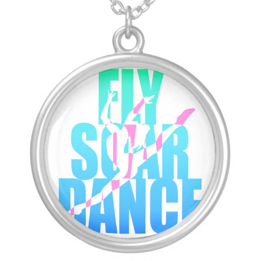 Fly Soar Dance Round Pendant Necklace