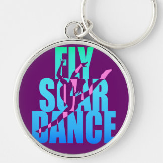 Fly Soar Dance Silver-Colored Round Keychain