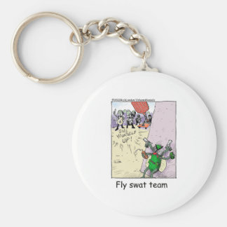 Fly Swat Team Funny Police Gifts & Collectibles Basic Round Button Keychain