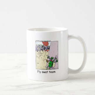 Fly Swat Team Funny Police Gifts & Collectibles Classic White Coffee Mug