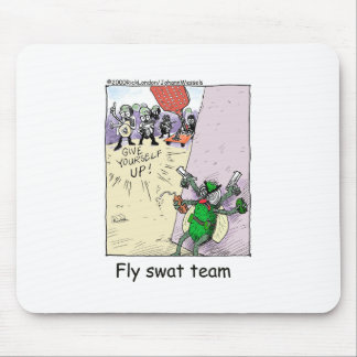 Fly Swat Team Funny Police Gifts & Collectibles Mouse Pad