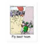 Fly Swat Team Funny Police Gifts & Collectibles Post Card