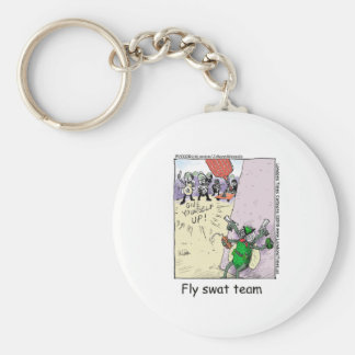 Fly Swatt Team Funny Mugs Cards Tees & More Basic Round Button Keychain