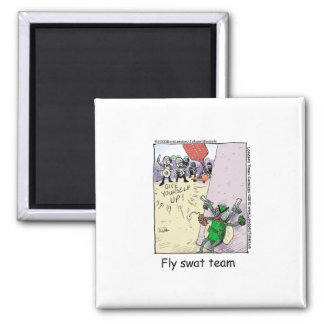 Fly Swatt Team Funny Mugs Cards Tees & More 2 Inch Square Magnet