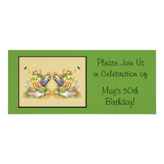 Fly Swatter 4x9.25 Paper Invitation Card