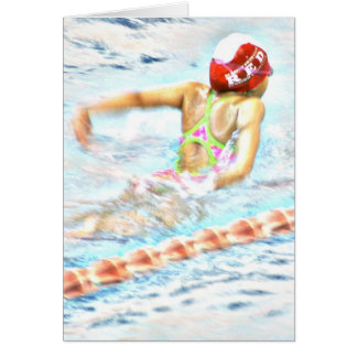 """FLY THROUGH LIFE"" Note Card for Swimmers"