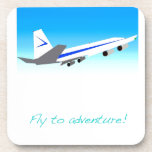 Fly to Adventure Beverage Coasters