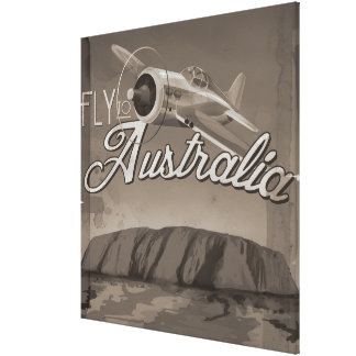 Fly To Australia Canvas Print