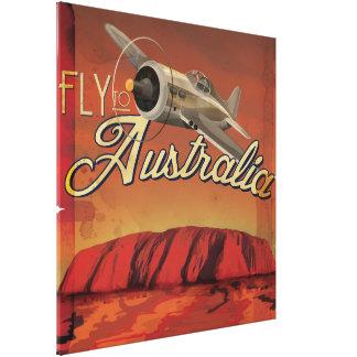 Fly To Australia Canvas Print