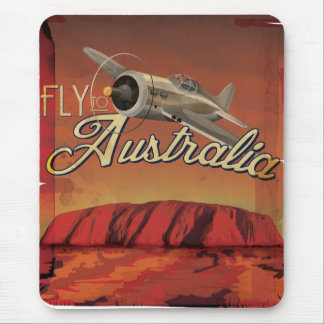 Fly To Australia Mouse Pad