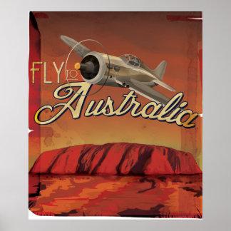 Fly To Australia Poster