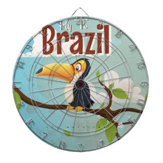 Fly to Brazil vintage Vacation Poster Dartboard