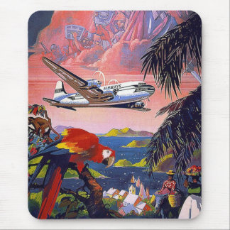 Fly To Caribbean Vintage Mousepads