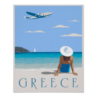 Fly To Greece Poster at Zazzle