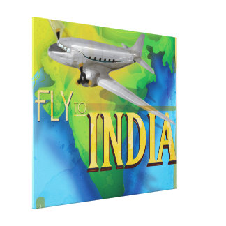 Fly To India Canvas Print