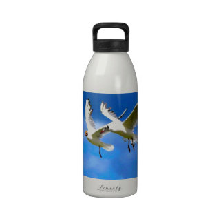 Fly to love parasise together birds water bottle